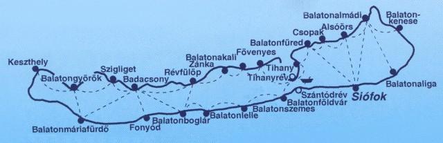 Balatoni kikötők és hajójáratok